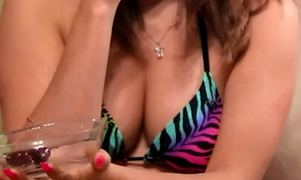 Bikini Boobs & Cherry Sucking Tease